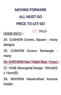HOME DECO - ALL MUST-GO, PRICE TO-LET-GO