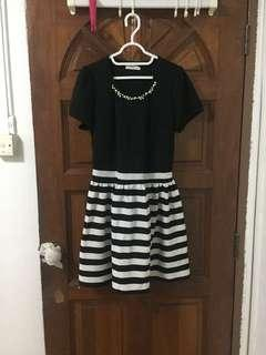 🚚 High Quality office stripped mini dress