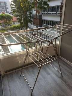 Slightly used stainless steel laundry rack