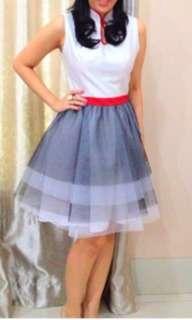 Sissae Qipao Jealousy White Chongsam Dress