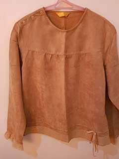 Brown velvet blouse