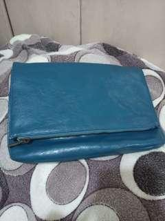 REPRICED! WWW - Teal Colored Clutch Purse Bag