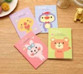 Children day gift mini notebook 40 pieces cartoon diary children's day prize