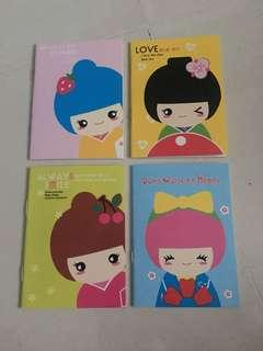 40 pieces Cute kimono japanese female notebooks children day gift and prizes