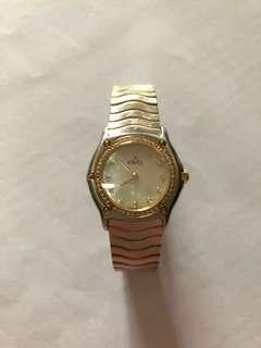 Ebel 原裝鑽石貝殼面女裝石英錶