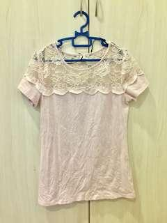 H&M Pink Lace Top