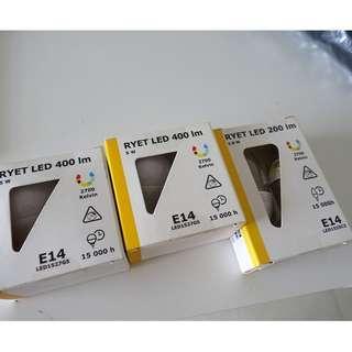 Ikea LED light bulb 6 bulbs RM35 free postage