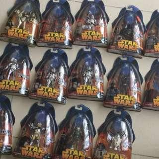 Star Wars 3.75 Inch Figure Lot 14 includes Darth Vader, Various Clone Trooper Bly Baccara Pilot AtTe