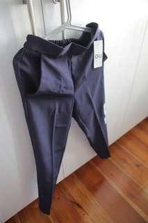 GU slim fit slacks in dark blue