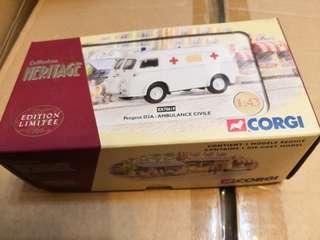 全新 corgi heritage白色救護車