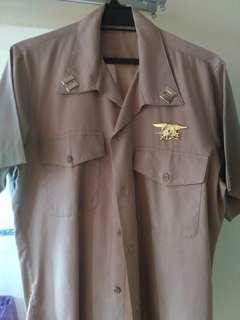 US NAVY OFFICER KHAKI UNIFORM (Vietnam era)