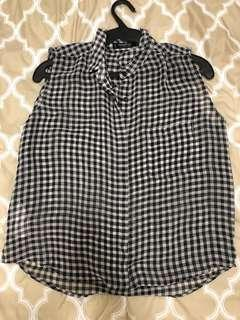 Checkered Top by Mango