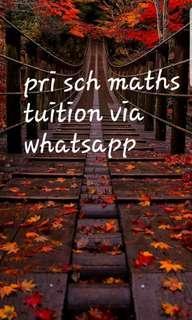 Pri sch maths tuition