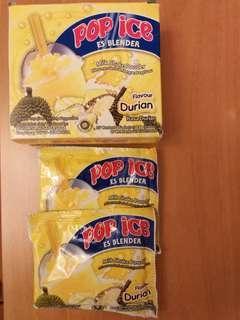 Pop ice milk shake powder Durian flavour 榴槤味 (每包)