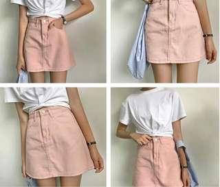 Pink Denim Skirt [INSTOCK]