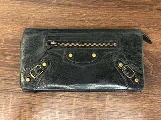 Balenciaga leather wallet (black)