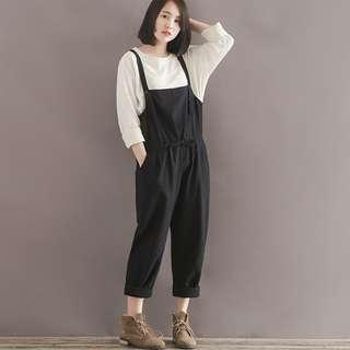 As New Worn Twice Cotton Linen Overalls