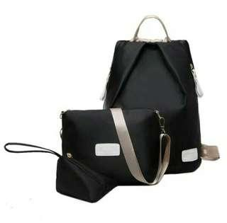 Repriced >299php 3 in 1 Backpack and Sling Bag w/ Coin Purse