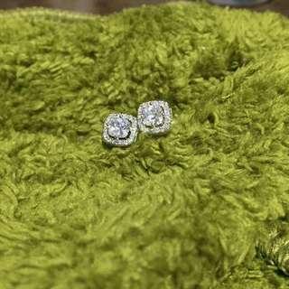 Pandora timeless silver earrings