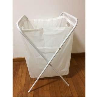 White laundry basket with frame