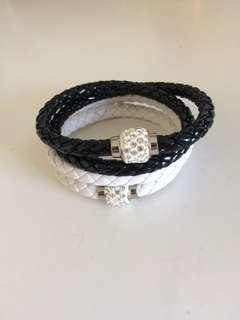 Magnetic pleather bracelet/necklace