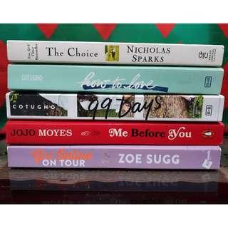 Pre-loved Teen Fiction and Romance Books (From P300 to P400)