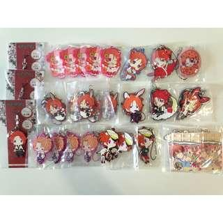 Tsukiuta-The Animation:Haduki You Merchandise set 3- Rubber-Strap set/Per