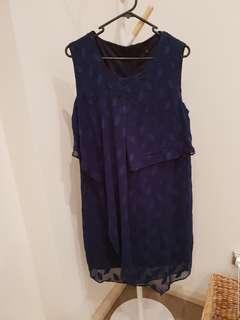 Navy silky dress