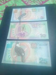 Suriname 3 pcs, 1 set