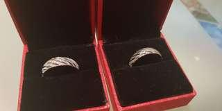 🚚 Couple rings pure silver