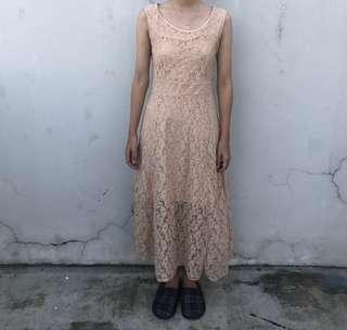 Laced Nude Dress