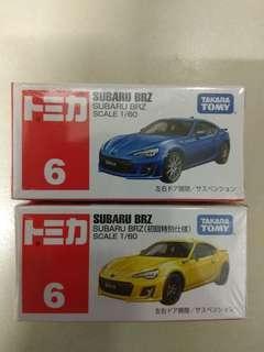 TOMICA Tomy 6 Subaru Brz (普通/初回)