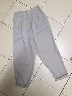 Snow Grey Tapered Work Pants