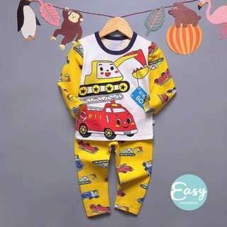 High Quality Kids Boys Toddlers Long Sleeve Pyjamas Sleepwear