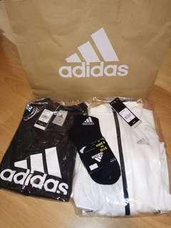 Adidas tee n jacket