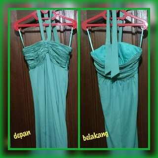 Dress / Gaun / Rok Pesta Hijau Toska