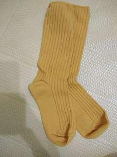 冬季黃色襪(全新)