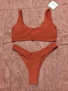 Orange Zaful nude bikini