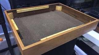 Thorens TD150 MKII-original Wood plinth MIG