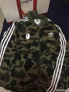 bape adidas pants + jacket