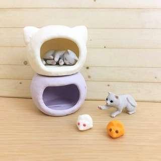 合售🌟貓咪 扭蛋 公仔 貓窩 可愛貓咪