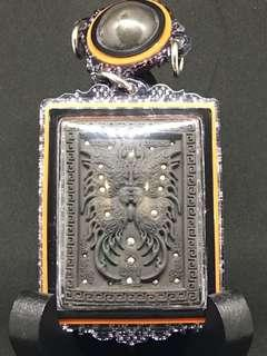 Kruba Krissana Butterfly Amulet with Loop Om