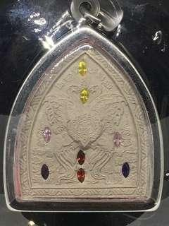Kruba Krissana Butterfly Amulet with colorful stones
