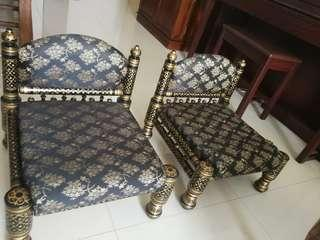 Indian Rajasthani low chairs/sofa