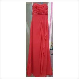 Gown / gaun / longdress pesta wrn watermelon