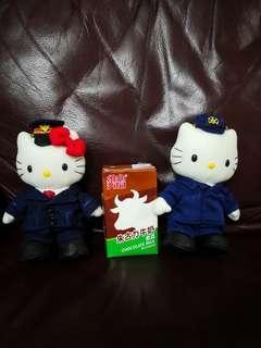 Hello Kitty日本絕版2003年可換衫公仔1對(購自日本)平賣