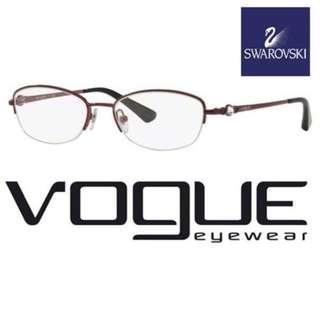 Brand new VOGUE Eye Glasses Frame with Swarovski Crystal