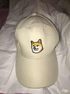 Cute dog hat, brown, baseball cap, new