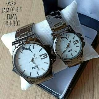 Jam tangan couple.puma free box