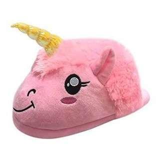 Cute unicorn plush slippers